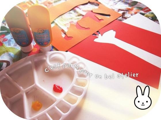 Peindre avec les doigts {activité enfants}